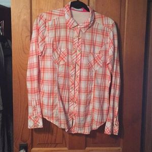 Maurices extra large plaid snap shirt
